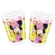 8 Plastik Becher Minnie Mouse