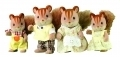 Sylvanian Families 3136 Walnut Squirrel Family